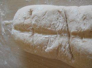 Brot mit Einschnitten!